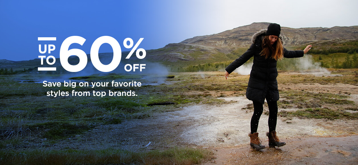 Up to 60% off. Save big on your favorite styles from top brands.