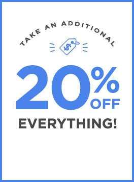 Take an additional 2)% off everything! Use code: WEEKEND20.