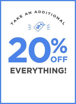 Take an additional 20% off everything! with Code OS20OFF