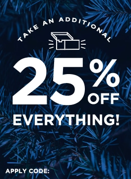 Take an additional 25% off everything! Use code: HOLIDAYGIFTS.